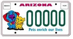 AZ PetFriendly License Plate